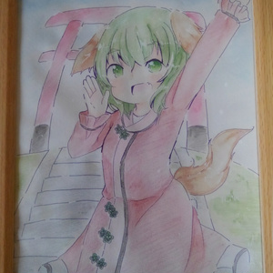水彩+色鉛筆イラスト「響子ちゃん」