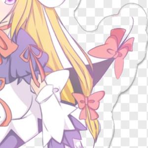 アクリルキーホルダー 紫 Aタイプ