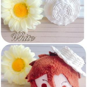 【春セール4/30まで】ゴム紐付きのカンカン帽