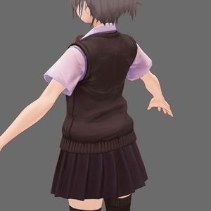 VRoid女性制服モデル向けテクスチャ 落ち着いた茶色