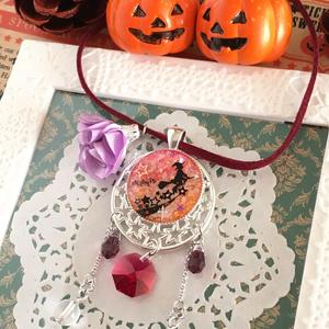 ハロウィン魔女のペンダント