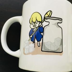 ミドルサイズマグカップ【オズっち盗み食い柄】