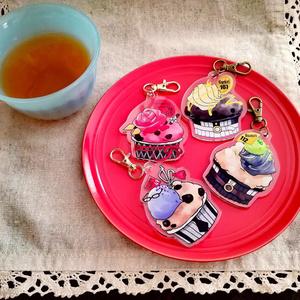 ★刀剣男士イメージ【カップケーキ】キーホルダー