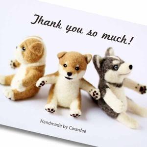 ワンコ達の Thank you so much カード