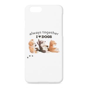 I Love dogs 柴犬&シベリアンハスキー&ブルドッグ 仲良しワンコ達のiPhoneケース