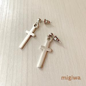 シンプル十字架ピアス/イヤリング