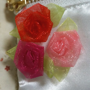 薔薇×レースファスナー付きティッシュケース