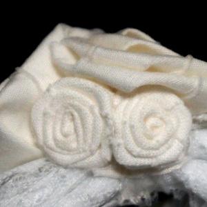 レースリボンブローチ ホワイトブーケ