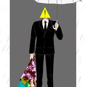 ポストカード 雨
