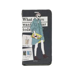 """手帳スマホケース """"今日は何着てどこへ行く?"""""""