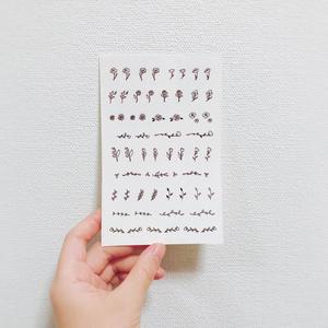 オリジナルタトゥーシールC【植物】