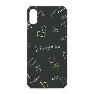 """iPhoneケース""""ゆる幾何学模様""""(ブラック)"""