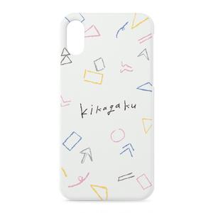 """iPhoneケース""""ゆる幾何学模様""""(ホワイト)"""