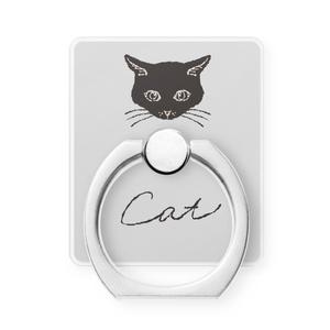 """スマホリング""""一匹の猫""""6種"""