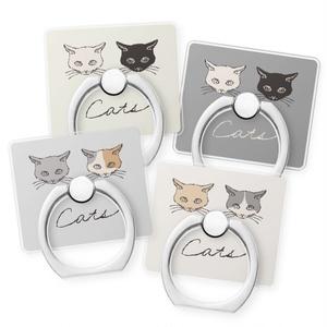 """スマホリング""""二匹の猫""""4種"""