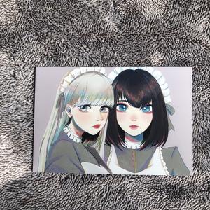 2人のメイドポストカード