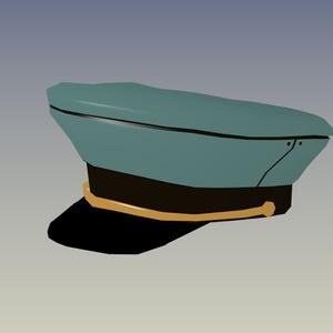 【無料】軍帽3Dモデル