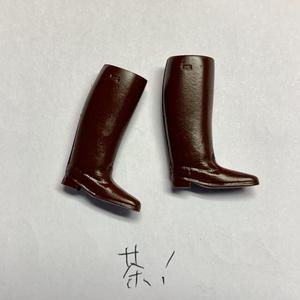 塗装完成済みガレージキット メガミデバイス用 ロングブーツ黒(各種)