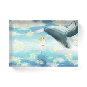 クジラと星とワルツを-アクリルブロック