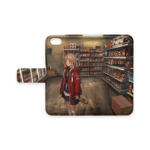 店内手帳型iPhoneケース