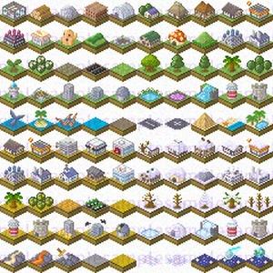 【ドット絵】建築ヴィネット素材(24×24サイズ)