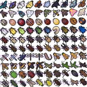 【ドット絵】昆虫素材(24×24)と(32×32)