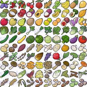 【ドット絵】食材素材(32×32サイズ)