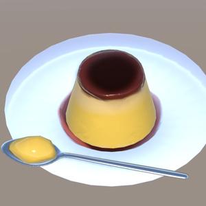 プリン【3Dモデル】