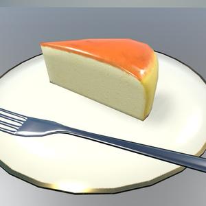 スフレチーズケーキ【3Dモデル】