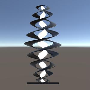 【3Dモデル】インテリアライト spiral