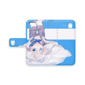 さかさおばけくんiPhoneケース(手帳型)