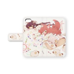 ちび山羊狼iPhoneケース(手帳型)