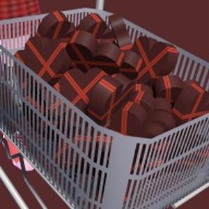 【無料】ショッピングカートとチョコ