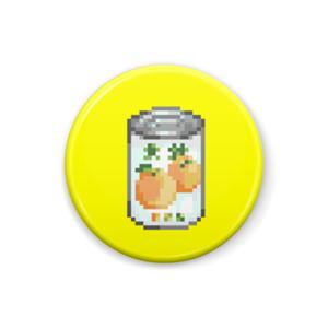 モモ缶バッジ