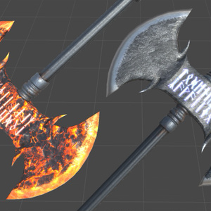 3Dデータ/ファンタジー武器/殴9種