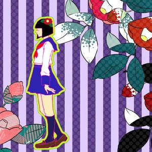 少女 - 椿 - トートバッグ