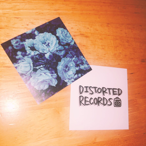 『Blue』+「DISTORTED RECORDS」ステッカー