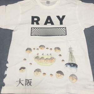 【白川さやか 落書きTシャツ1時間】RAY大阪Tシャツ(サインありチェキ券1枚付き)