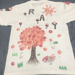 【白川さやか 落書きTシャツ4時間】いくらの木Tシャツ(サインありチェキ券1枚付き)