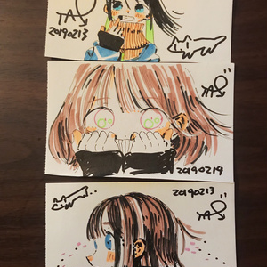手描きイラストの3枚セット01