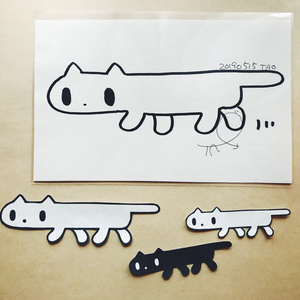 TAOねこステッカー3枚セット【原画付き】