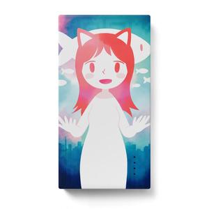 カバーアート「東京猫化計画」のモバイルバッテリー
