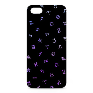 Astrological symbol #Black×Purple - iphone5ケース
