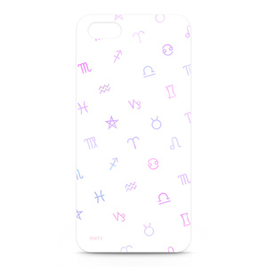 Astrological symbol #White×Pink - iphone5ケース