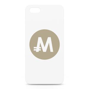 iPhone5/5sケース モナコイン 文字無 メダル色