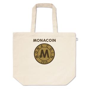 トートバッグ L リアルモナコイン裏柄 文字有 メダル色