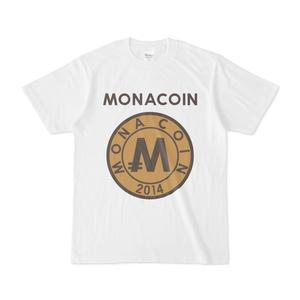 Tシャツ リアルモナコイン裏柄 文字有 メダル色