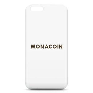 iPhone6ケース モナコイン 文字のみ メダル色