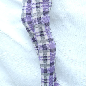 1/3ドール用サイハイソックス クリーミーチェック ブルーベリー Socks for 1/3 BJD