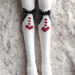 1/3ドール用ニーソックス ドロップハート Socks for 1/3 BJD